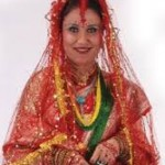 komal oli  marriage dresss